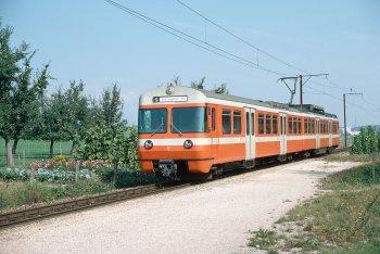 Der Be 4/8 52 im Bahnhof Urtenen am 14.09.1984